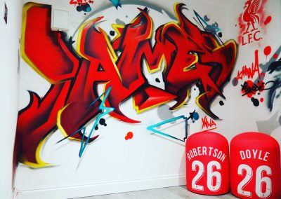011-Graffiti-name-tag-on-bedroom-wall-for-liverpool-fan