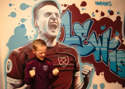 025-Westham-fan-bedroom-with-graffiti-name-tag-on-wall