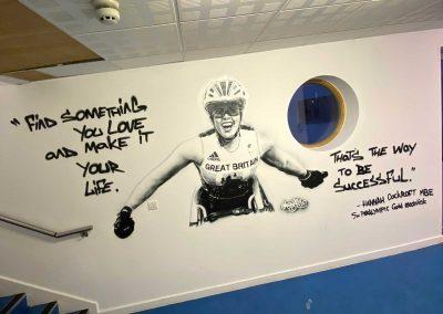 078-hannah cockroft mbe-paralympic-gold-wheelchair sport-winner-gold-street art-mural