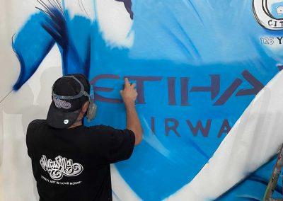 136-Manchester-City-FC-Shirt-Painted-by-Graffiti-Street-Artist