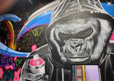 171-gorilla-street art-primate-mural art-graffiti art