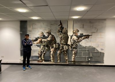 173-army barracks-soldiers-bristish army-spray paint-military-street art-mural art-graffiti art