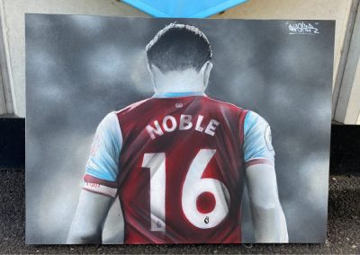 West ham legend-whu-captain-mark noble-hammers art-west ham united-mural-graffit painting-street art-print
