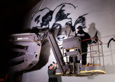 Graffiti-Artists-work-on-Beatles-Wall-Mural